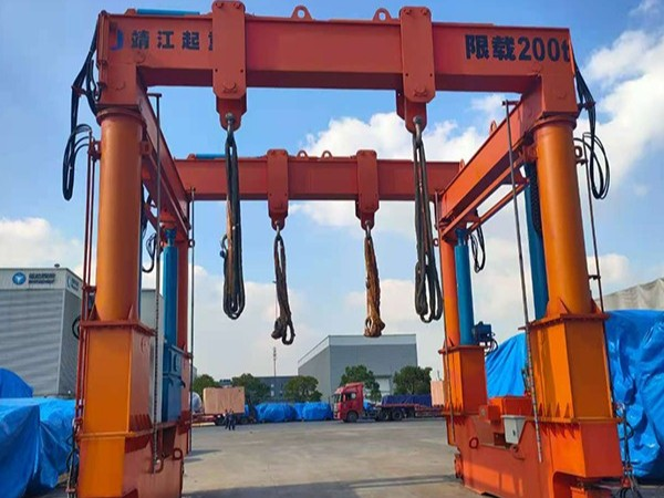 宝威起重为浙江运达风电提供200t移动液压门式起重机案例