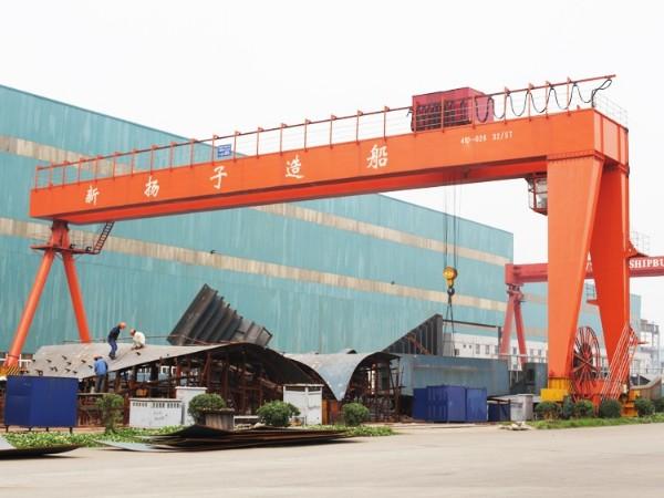 大吨位造船龙门起重机